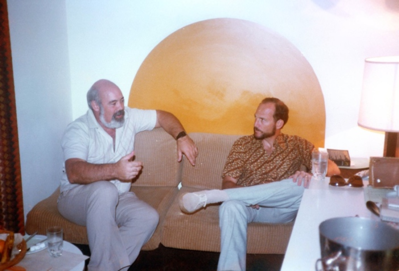 From Left: Mike Maybury with AISA Executive Director Chuck Kite, AISA conference, 1983
